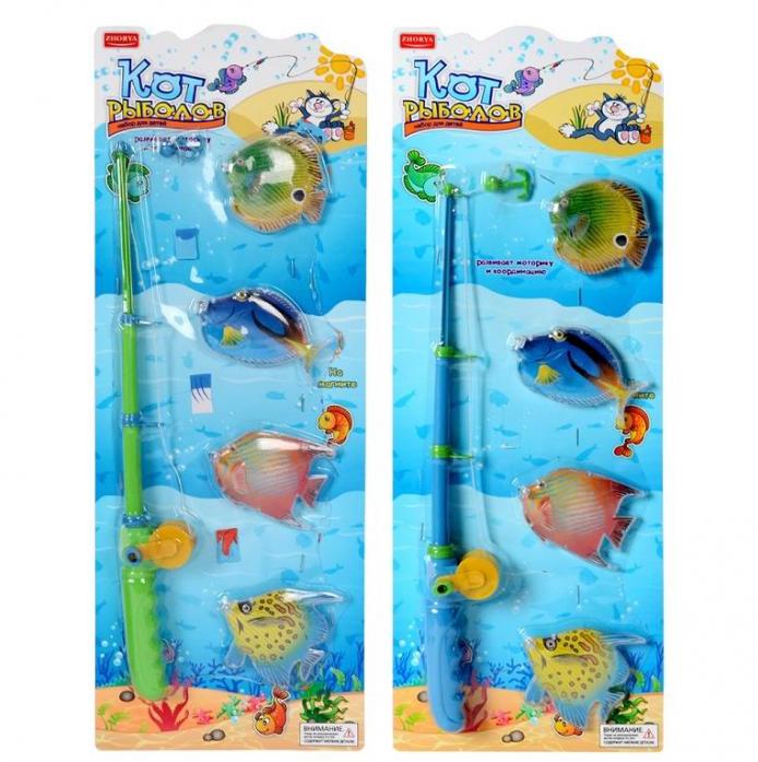Игрушка для ванной Zhorya Кот рыболов (2 вида) Х76170