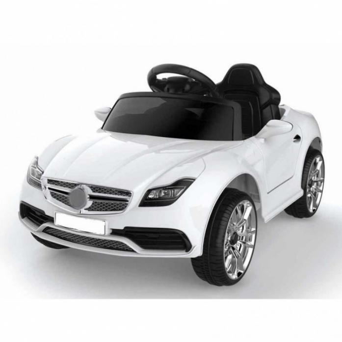 Детский электромобиль Rivertoys Mercedes o333oo белый кожа