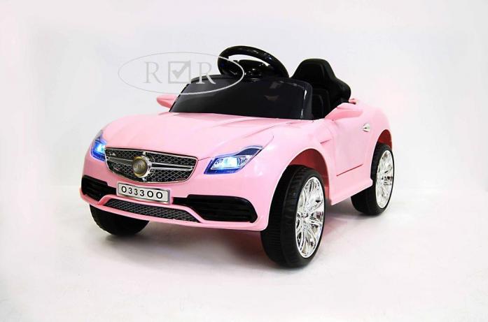 Детский электромобиль Rivertoys Mercedes o333oo розовый кожа