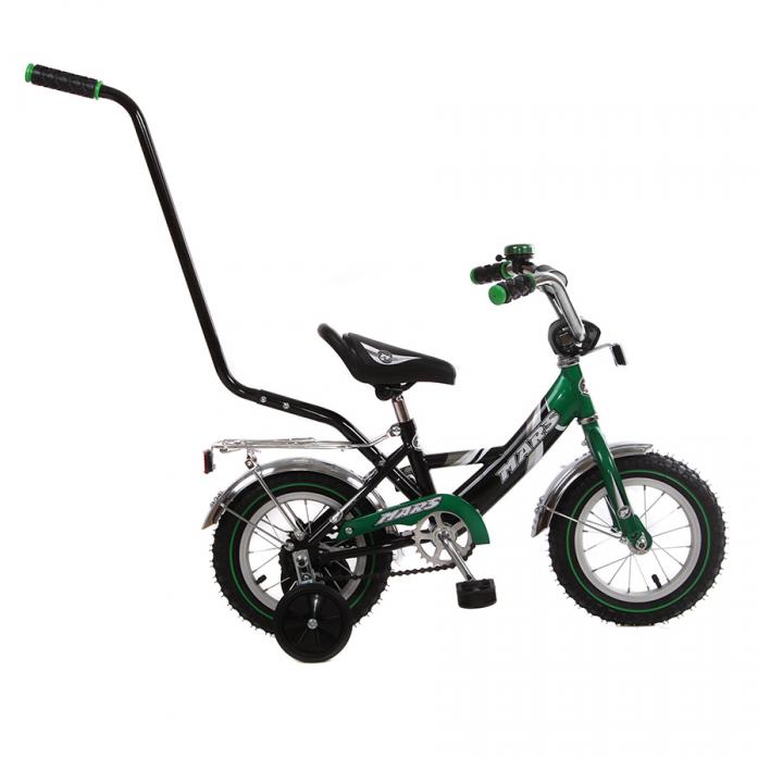 """Велосипед MARS """"12"""""""" С1201 Green/black с ручкой"""""""