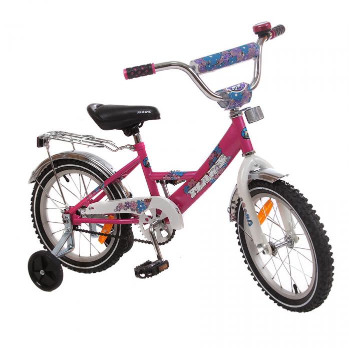 "Велосипед MARS ""16"""" Girl Neon Pink"""