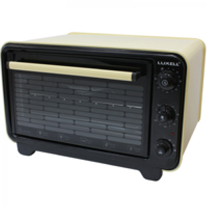 Мини-печь Luxell KF 3125 корпус желтый, панель черная