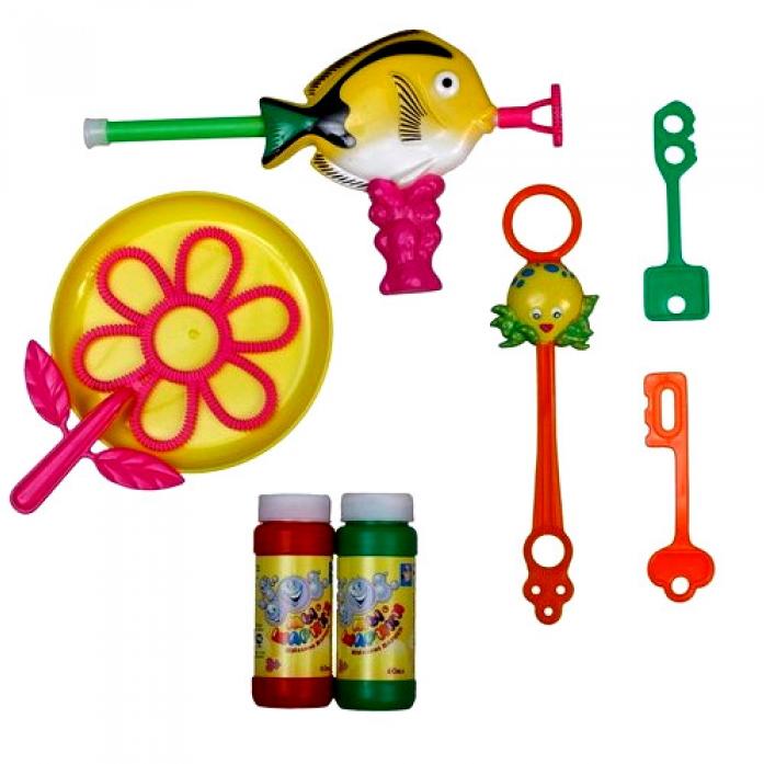 Набор игрушек с мыльными пузырями 1toy Мы-шарики! Желтая рыбка Т51218-2