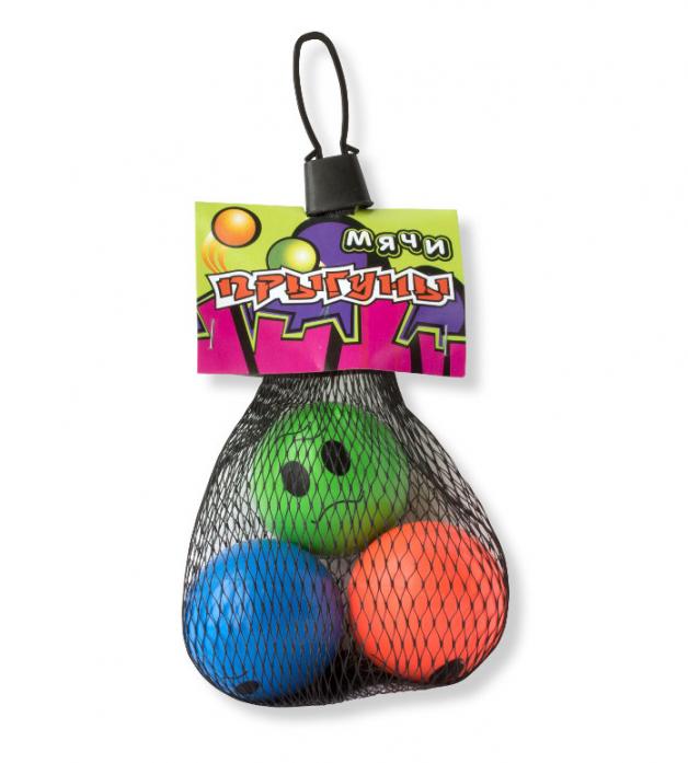 Набор мячей 1toy Прыгуны 43 мм 3 шт Т57276