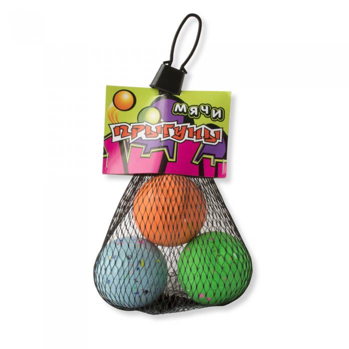 Набор мячей 1toy Прыгуны 3 шт Т57277