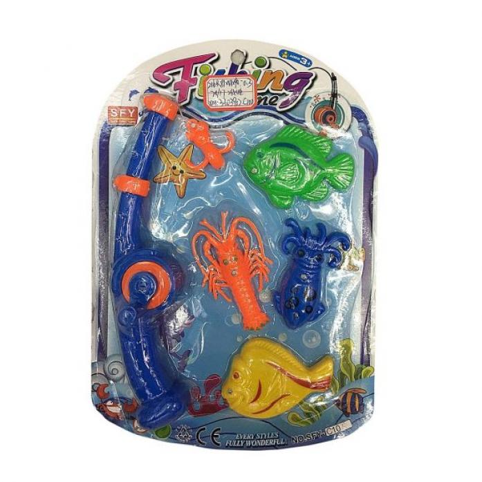 Игрушка для ванной Shantou Gepai Рыбалка магнитная удочка + 4 фигурки 635536