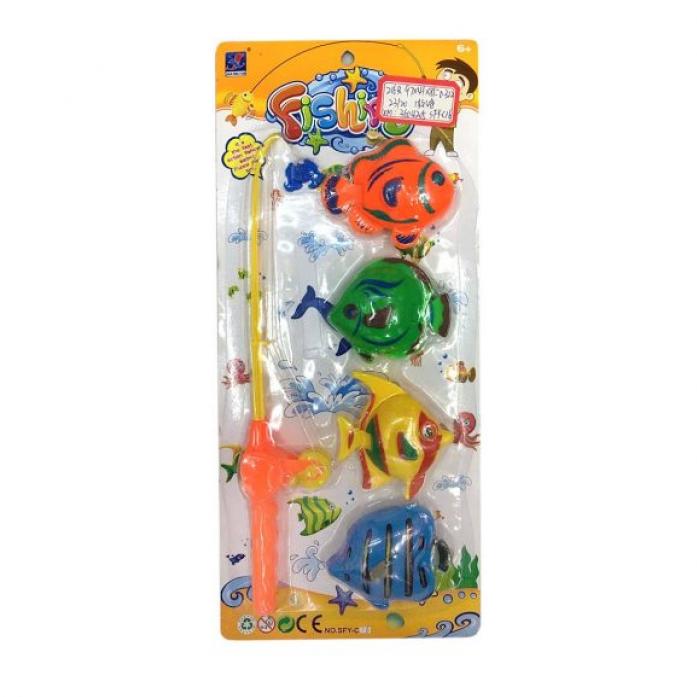 Игрушка для ванной Shantou Gepai Рыбалка магнитная удочка + 4 фигурки 635540