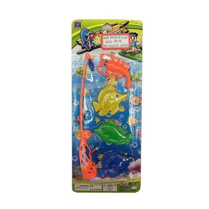 Игрушка для ванной Shantou Gepai Рыбалка магнитная удочка + 4 фигурки 635544
