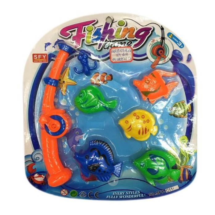 Игрушка для ванной Shantou Gepai Рыбалка магнитная удочка + 5 фигурок 635537
