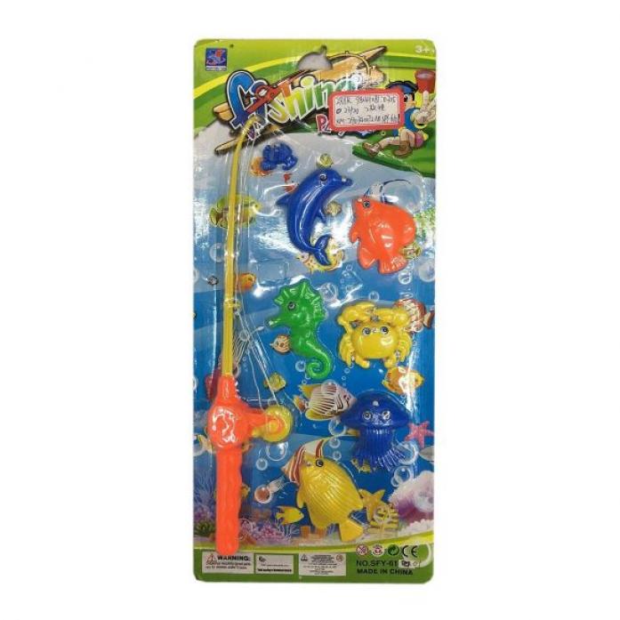 Игрушка для ванной Shantou Gepai Рыбалка магнитная удочка + 6 фигурок 635538
