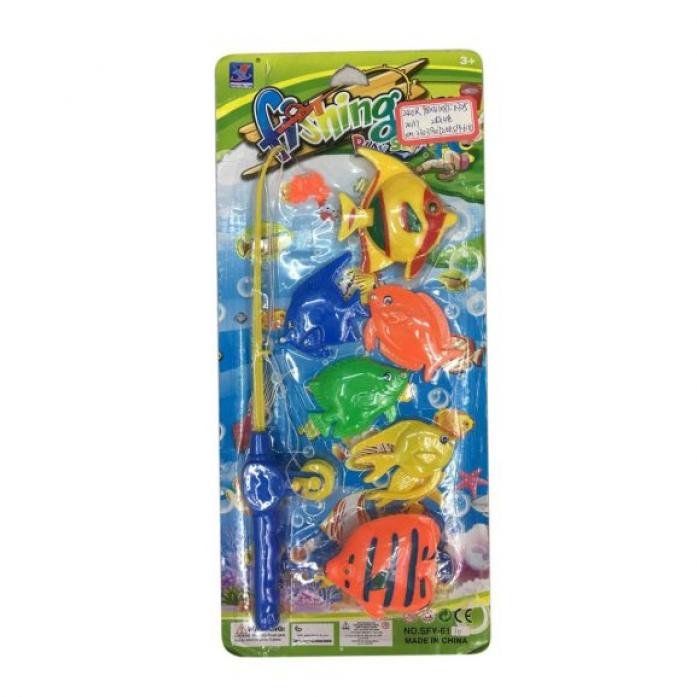 Игрушка для ванной Shantou Gepai Рыбалка магнитная удочка + 6 фигурок 635539