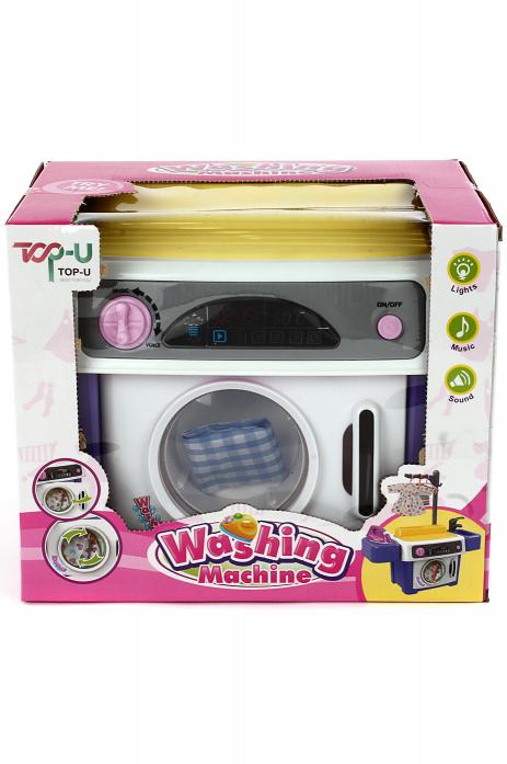 Игровой набор Shantou Gepai Стиральная машинка с утюгом, раковиной и аксессуарами TP601