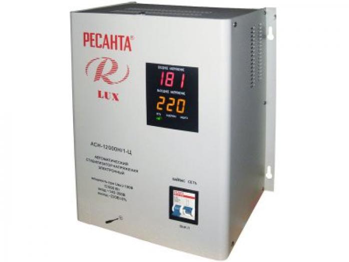 Стабилизатор Ресанта АСН-12 000 Н/1-Ц Ресанта Lux