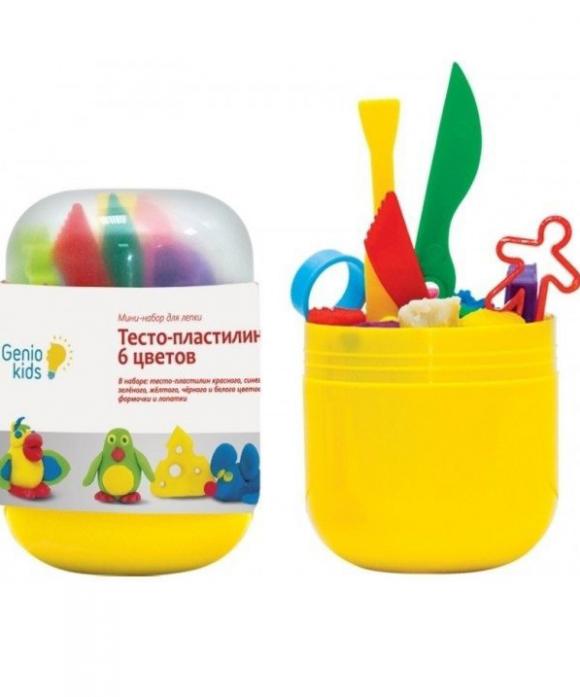 Мини-набор для лепки Genio Kids Тесто-пластилин 6 цветов TA1065