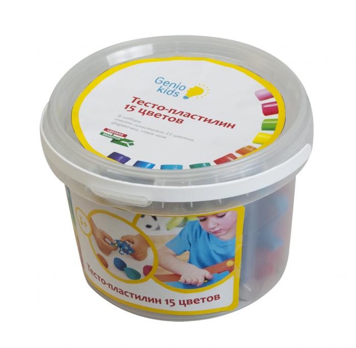 Набор для лепки Genio Kids Тесто-пластилин 15 цветов TA1066