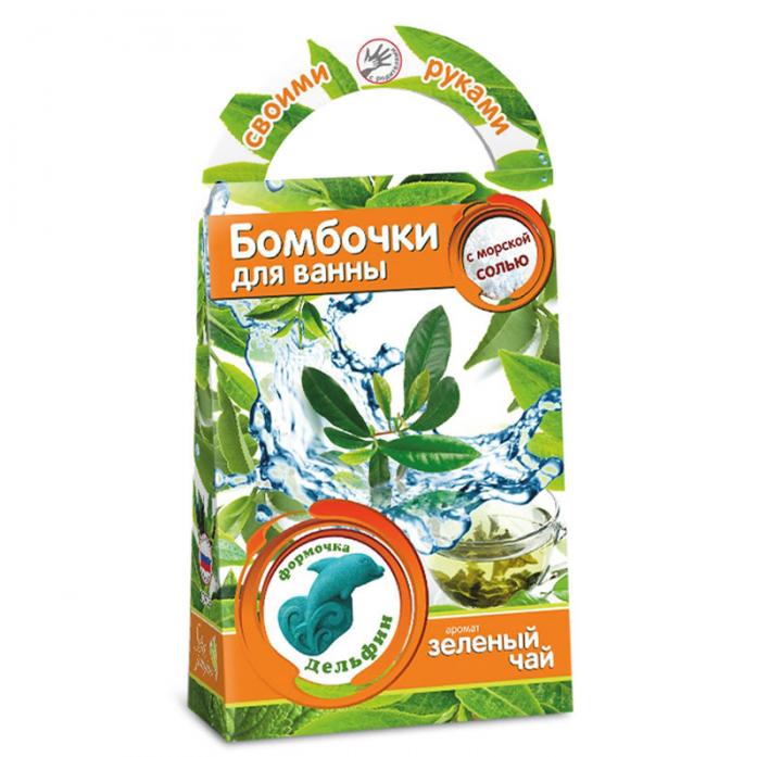 Бомбочки для ванны своими руками Развивашки Зеленый чай С0705