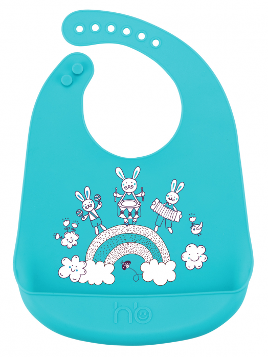 Нагрудник Happy Baby Bib pocket силиконовый 16006