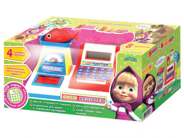 Игровой набор Маша и Медведь Касса с аксессуарами и калькулятором GT6799