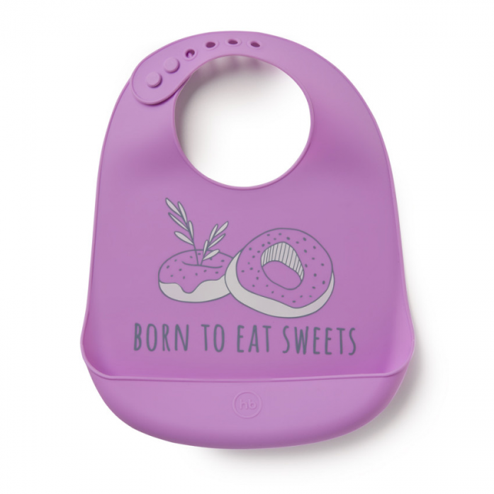 Нагрудник силиконовый Happy Baby Bib pocket силиконовый 16006 Violet