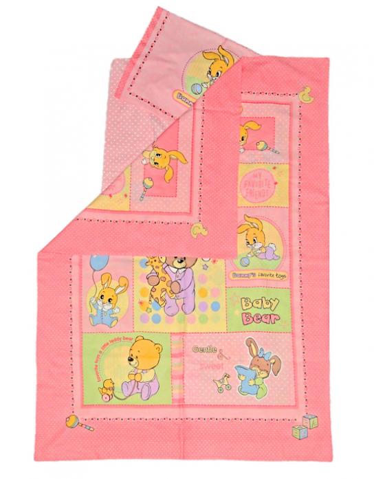 Комплект в кроватку Kids comfort 031-12 Дрема Панно розовый