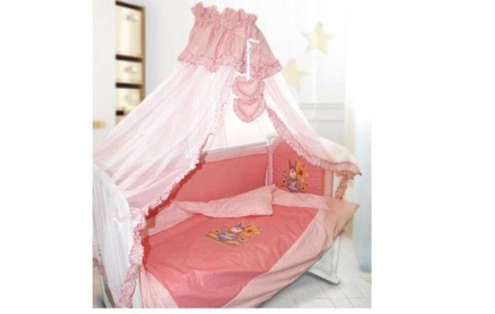 Комплект в кроватку Kids comfort 034-3 Панно mini розовый