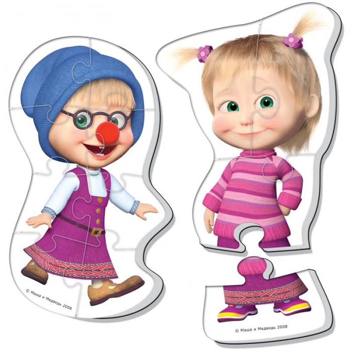 Пазлы мягкие Vladi Toys Baby puzzle Маша и медведь VT1108-03
