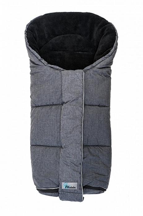Конверт ALTABEBE AL2277P-01 Alpin Stroller dark grey/black