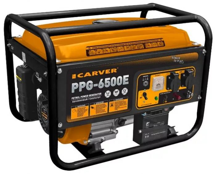 Бензиновый генератор CARVER PPG-6500Е LT-188F 01.020.00005