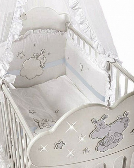 Комплект в кроватку Feretti Baby Beddings Culla Etoile azzuro 5 пр