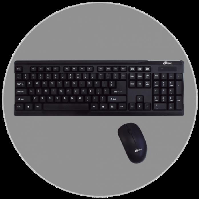 Клавиатура Ritmix RKC-001+мышь RKC-001/SW-CM10000