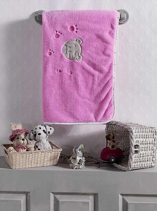 Плед велсофт Kidboo Cute Bear pink