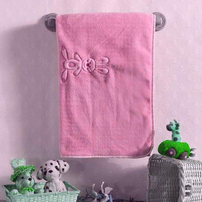 Плед велсофт Kidboo Rabbitoo pink