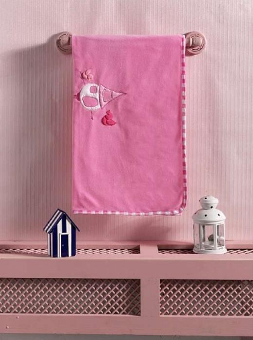 Плед флисовый Kidboo Lovely Birds розовый