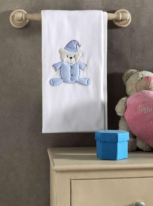 Плед флисовый Kidboo Teddy Boo Blue