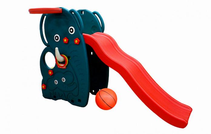Горка-волна Happy Box Слон с баскетбольным кольцом и мячом JM-765W