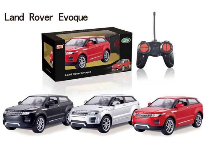 Игрушка DX Р/у машина 1: 28 LAND ROVER Evoque DX122832, со светом, на батарейках, в коробке 28.9*13.5*13.7см