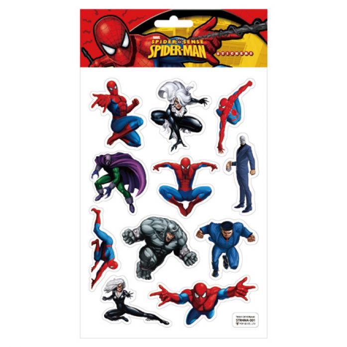 Наклейки Marvel STRHMA-001 SPIDER-MAN, 3D на листе 14,5*21см TM MARVEL