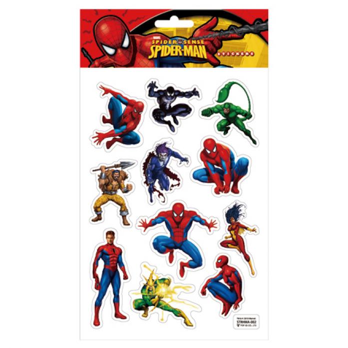 Наклейки Marvel STRHMA-002 SPIDER-MAN, 3D на листе 14,5*21см TM MARVEL