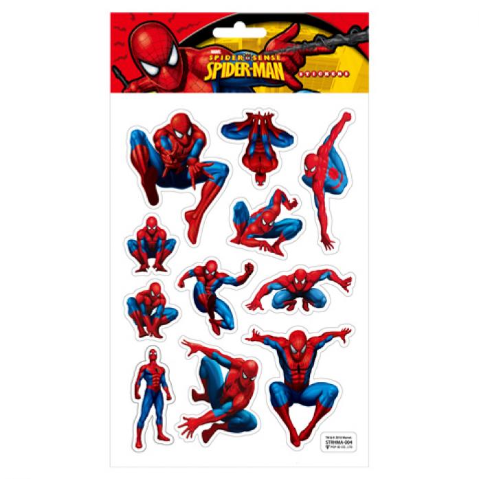 Наклейки Marvel STRHMA-004 SPIDER-MAN, 3D на листе 14,5*21см TM MARVEL