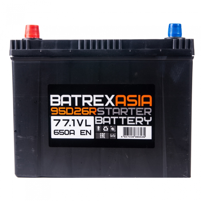 Аккумулятор BATREX ASIA 77 А/ч обр EN650