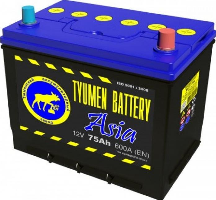 Аккумулятор TYUMEN BATTERY ASIA 75 А/ч обратная R+