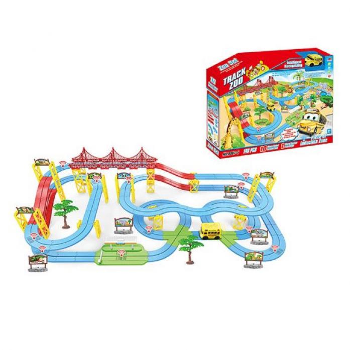 Игровой набор Shantou Gepai Автотрек Зоопарк 2 уровня 8867-5