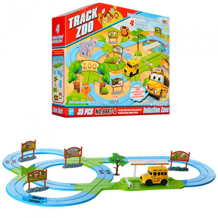 Игровой набор Shantou Gepai Автотрек Зоопарк 35 деталей 8867-4