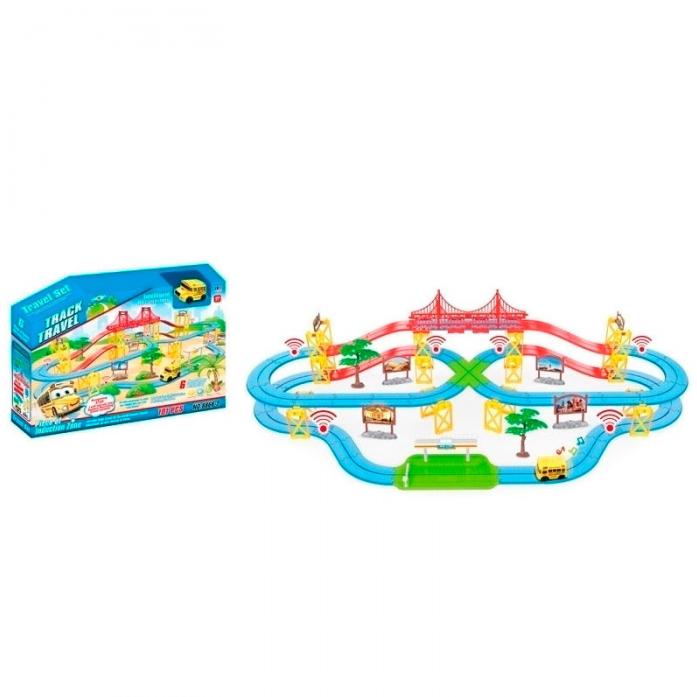 Игровой набор Shantou Gepai Автотрек Путешествие 101 деталь 8866-2