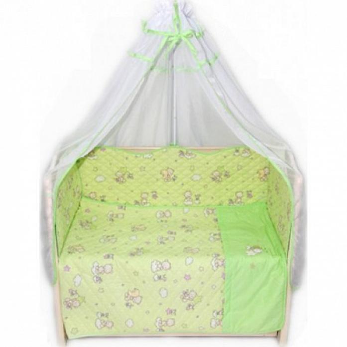 Комплект в кроватку Bombus Универсальный 6 пр эконом 1304 зеленый