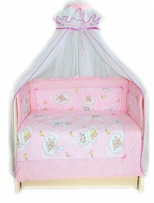 Бампер в кроватку Bombus Сладкий сон 4166 розовый