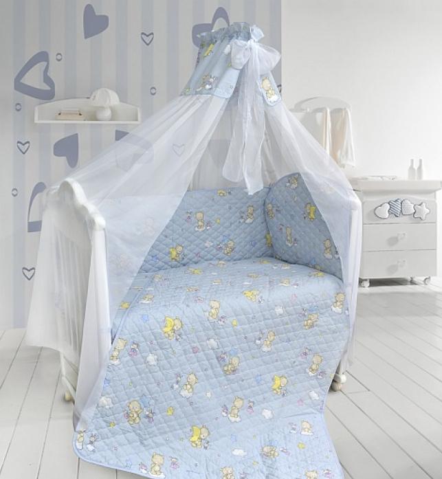 Бампер в кроватку Bombus Универсальный 4012 голубой