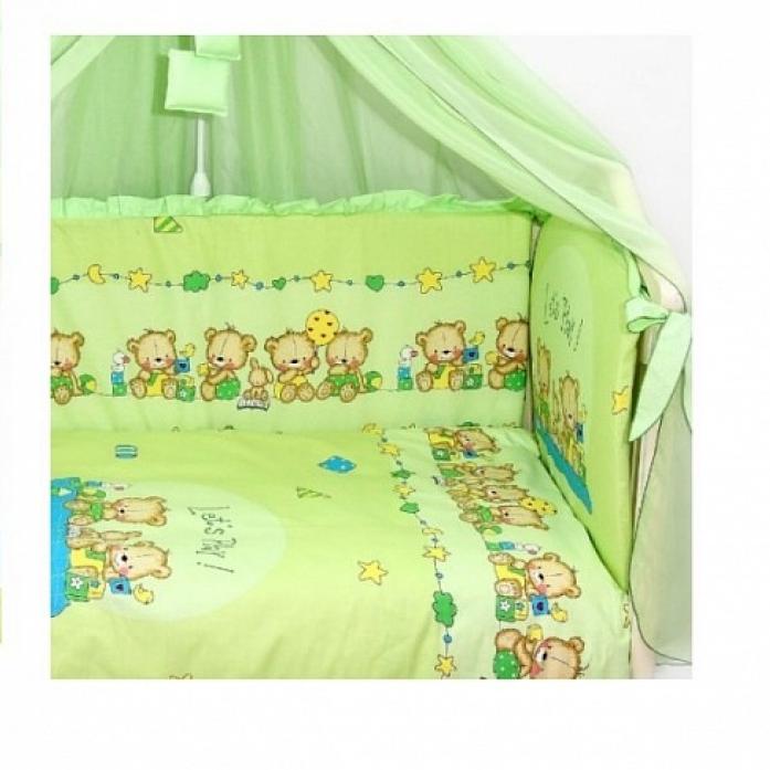 Комплект в кроватку Bombus Давай поиграем 7пр 1194 зеленый