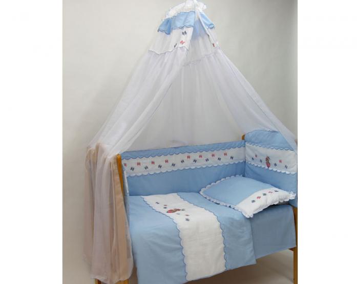Комплект в кроватку Bombus Ксюша 7пр 1382 голубой