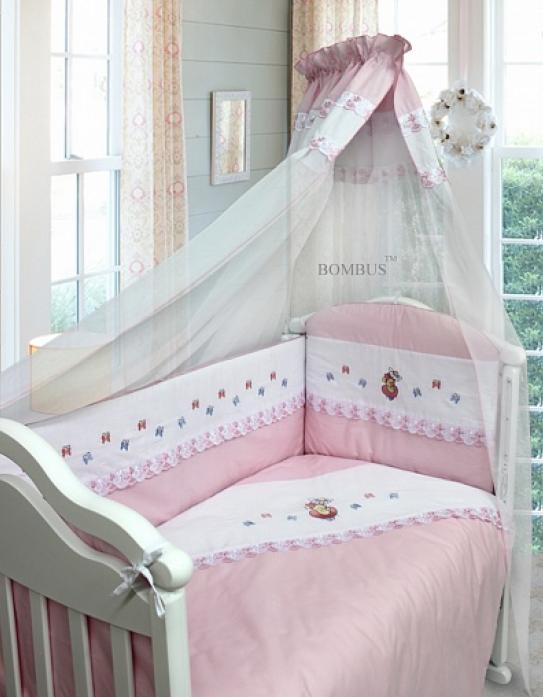 Комплект в кроватку Bombus Ксюша 7пр 1386 розовый